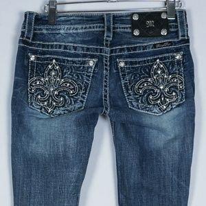 Miss Me Signature Skinny Fleur De Lis Jeans #511
